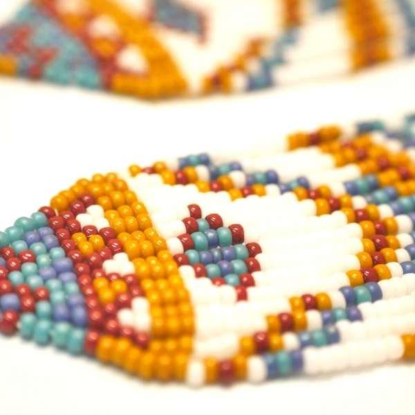 patrón pendientes estilo nativo